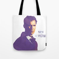 true detective Tote Bags featuring TRUE DETECTIVE by Sunli