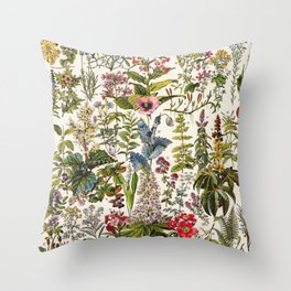 Adolphe Millot - Plantes Medicinales A - French vintage poster Throw Pillow