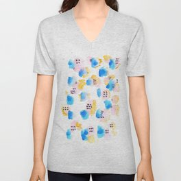170327 Watercolor Scandic Inspo 9 |Modern Watercolor Art | Abstract Watercolors Unisex V-Neck