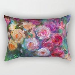 Tea Roses Rectangular Pillow