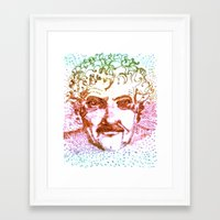 kurt vonnegut Framed Art Prints featuring Kurt Vonnegut by Erkin Gören