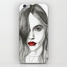 Sasha with Red Lips iPhone & iPod Skin