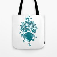 vegetables Tote Bags featuring Vegetables  by Sarah Dennis