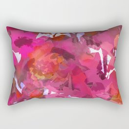 Peach Poppy Patch Rectangular Pillow