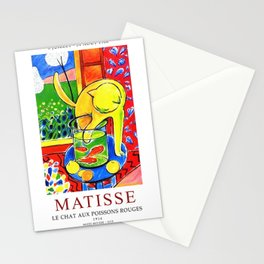 Henri Matisse, Le Chat Aux Poissons Rouges 1914 Exhibition Poster, (The Cat With Red Fishes), Artwork, Men, Women, Youth Stationery Cards