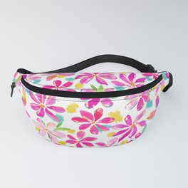 Painterly Flowers Fanny Pack