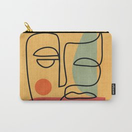 Abstract Face 20 Carry-All Pouch