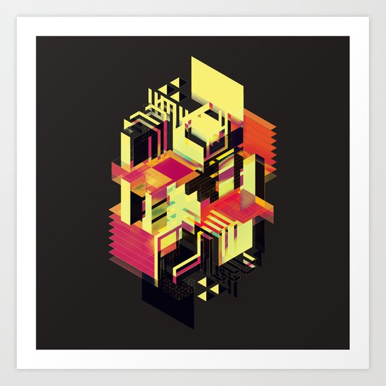 Utopia in Six or Seven Colors Art Print