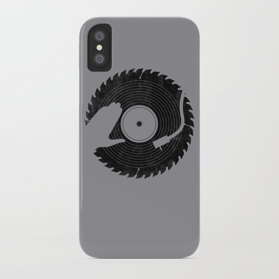 That DJ sure can cut iPhone Case