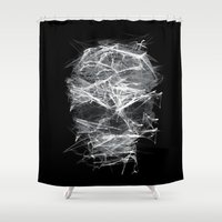 gladiator Shower Curtains featuring SKLL3 by karakalemustadi