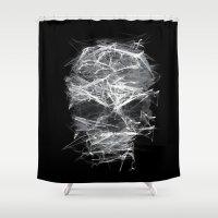 cigarettes Shower Curtains featuring SKLL3 by karakalemustadi