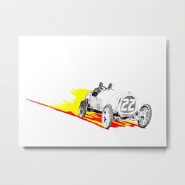 Classic Race Car Number 22 Metal Print