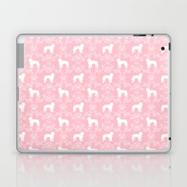 Golden Doodle dog silhouette floral dog breed gifts Laptop & iPad Skin