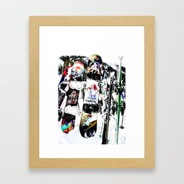 Snowboard Season Framed Art Print