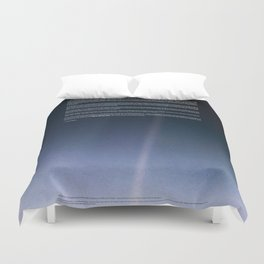 Pale Blue Dot — Voyager 1 (2020 rev.) Duvet Cover