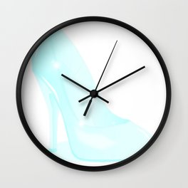 The Glass Slipper Background Wall Clock