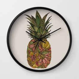 Pineappleflower Wall Clock