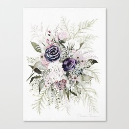 Purple Bouquet Canvas Print