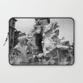 fontana navona black and white Laptop Sleeve