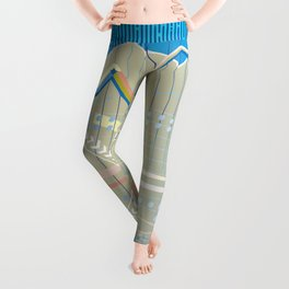 financial background Leggings