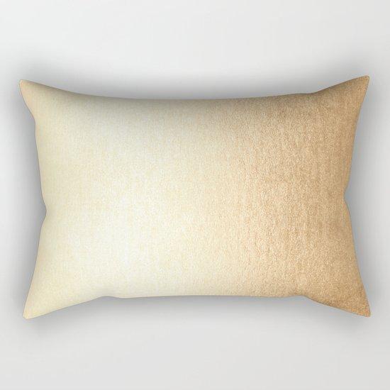 Simply Golden Copper Sun Rectangular Pillow