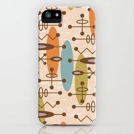 Mid Century Modern Radioactive Surfer 333 iPhone Case