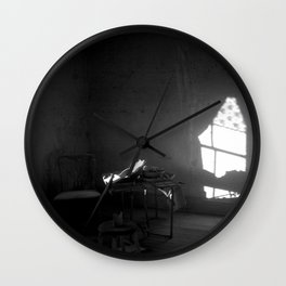 I love the water of wells and springs Wall Clock