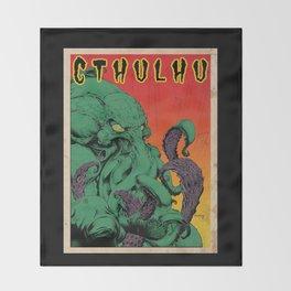 Vintage Cthulhu Throw Blanket
