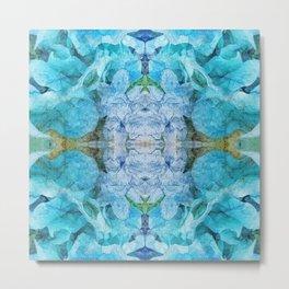 Abstract Turquoise Mandala 1020 Metal Print