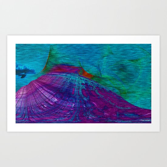 Undersea Exploration Art Print