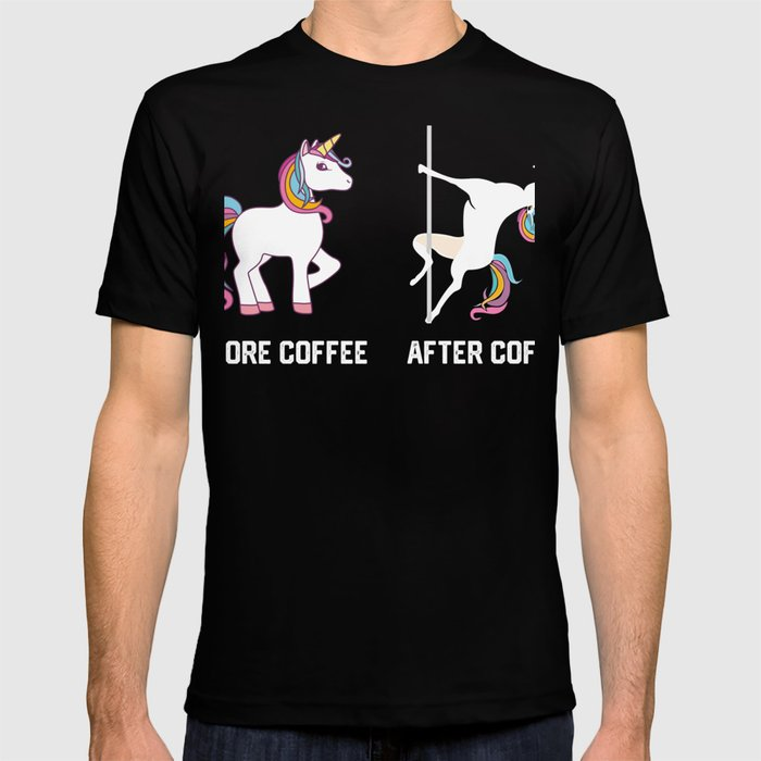 67b04e06 Funny Unicorn Before Coffee After Coffee T-shirts Gift T-shirt by ...