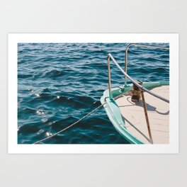 BOAT - WATER - SEA - PHOTOGRAPHY Art Print