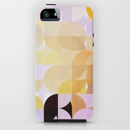 Retro Dots Orchids iPhone Case