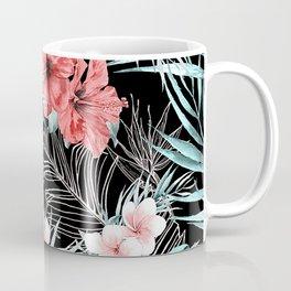 Black & Rose Gold Pink Island Paradise Kaffeebecher