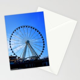 The Great Wheel in Seattle on a Blue Sky Day Stationery Cards