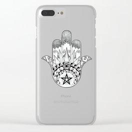 Hamsa Maori Clear iPhone Case