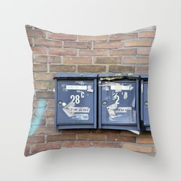Mailboxes Throw Pillow