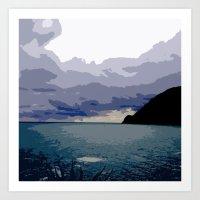 Painterly Mediterranean Storm Art Print