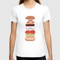 burger T-shirts featuring Burger by Andrew Mashanov