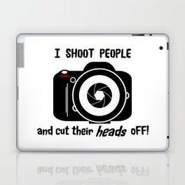I Shoot People - Photography Fun Design Laptop & iPad Skin