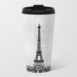 Eiffel tower, Paris France in black and white with painterly effect Travel Mug