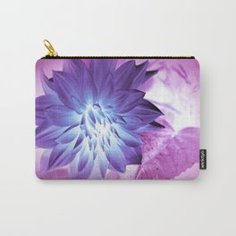 Purple Flower X-Ray Carry-All Pouch
