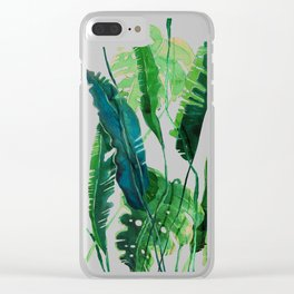 tropical compilation Clear iPhone Case