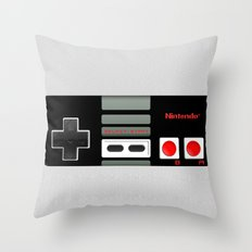Classic retro Nintendo game controller iPhone 4 4s 5 5c, ipod, ipad, tshirt, mugs and pillow case Throw Pillow