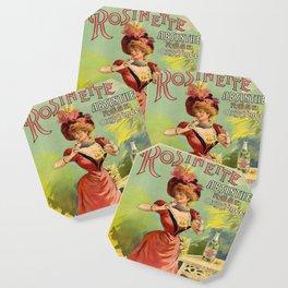 Vintage poster - Rosinette Absinthe Coaster