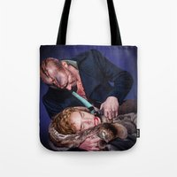 frankenstein Tote Bags featuring Frankenstein by tillieke