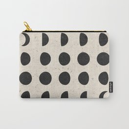 Moon Phases Black Carry-All Pouch