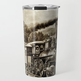 Vintage steam train illustration Travel Mug