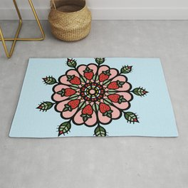 Strawberry swirl mandala Rug
