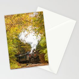 Nature Landscape Photography - Steam Train with Autumn Foliage Stationery Cards